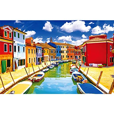 Jigsaw Puzzles for Adults Kids 1000 Pieces Puzzles Large Burano Puzzles for Family Indoor Game Toys: Toys & Games