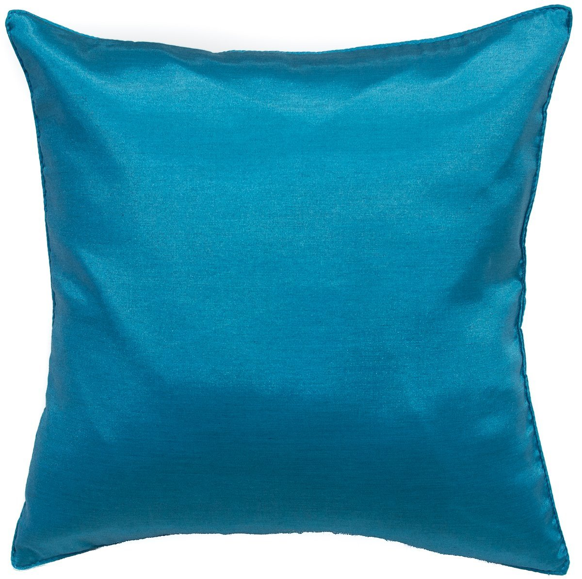 Avarada Solid Decorative Throw Pillow Covers Case Cushion Cover 16x16 inch for Sofa Couch Chair Bed Back Zipper Insert Not Included Handmade Quality Blue by Avarada