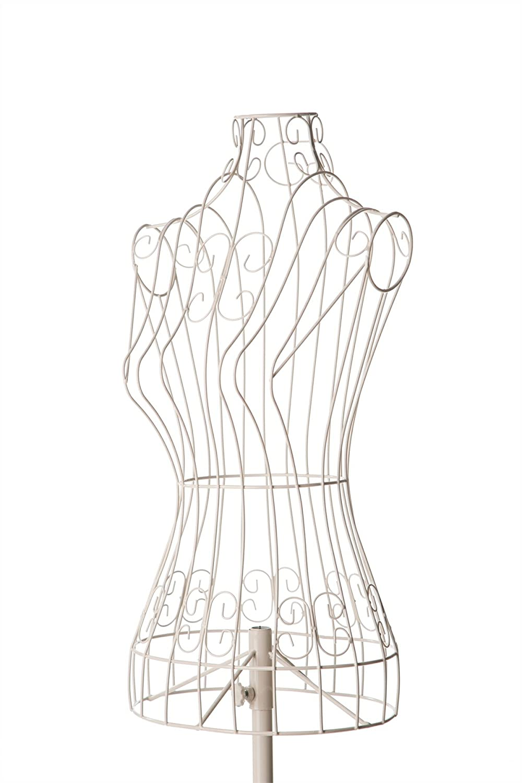 Amazon.com: Cream Extra Small Female Decorative Wire Mannequin Dress ...