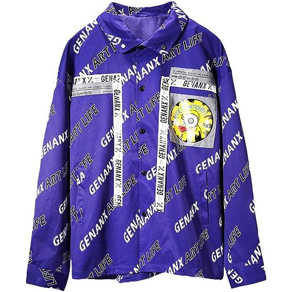 Amazon.com : SXELODIE Men and Women Coat Street Hip Hop Color Organ Jacket : Sports & Outdoors