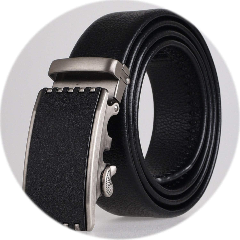 3.5cm Width Leather Belt Men Automatic Buckle Belts For Men Luxury Brand Male Waist Belt,4,105cm