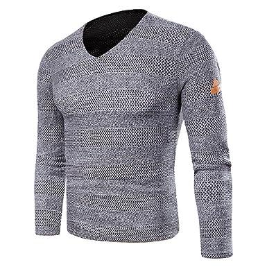 Goosuny Herren Feinstrick Strickpullover Modern V Kragen Ausschnitt Pulli  Strickmantel Streetwear Modische Herbst Winter Warme Slim d00299f42f