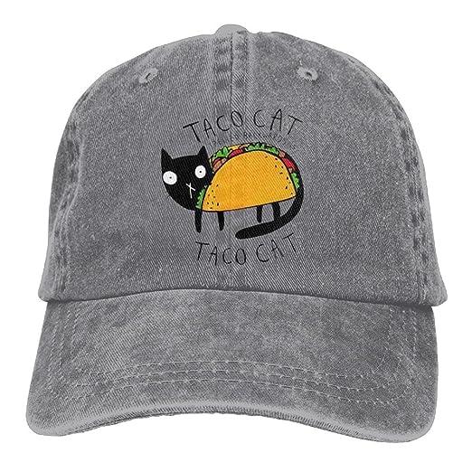 Amazon.com  Quzim Cowboy Hat Cap For Men Women Taco Black Cat  Clothing 597cc106505