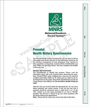 amazon com briggs healthcare prenatal health history questionnaire