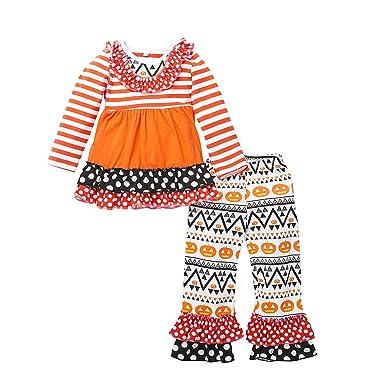8745f3a9e4e Amazon.com  belababy Girl Boutique Clothing Set Christmas Long ...
