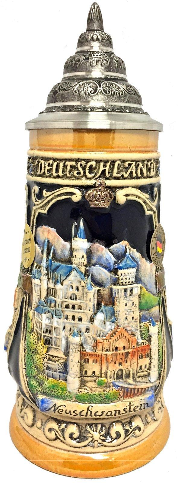 Neuschwanstein Castle LE Relief German Beer Stein .25 L Bavaria Germany
