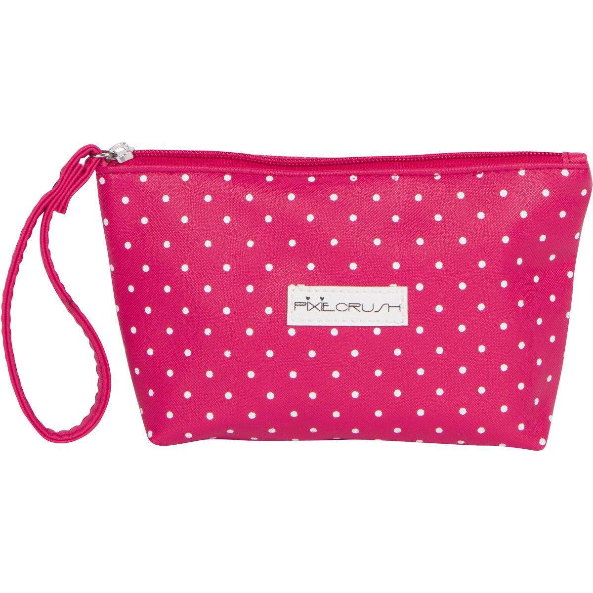 PixieCrush Pretend Play Cosmetic and Makeup Set. 13 Piece Designer Kit with Pink Polka Dot Handbag by PixieCrush (Image #4)