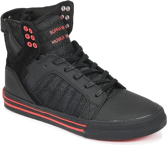 Chaussures SUPRA SKYTOP black black risk red