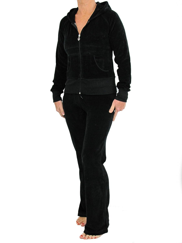 Designer-Inspiriert. Luxus-Lounge-Anzug Love Lola Damen Velours-Trainingsanzug mit Kapuze