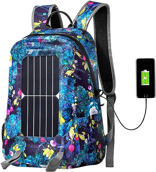 WishY 7W Cargador Solar Mochilas con Paneles Solares, Portátil ...