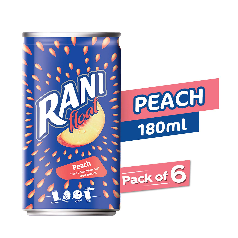 Rani Rani Peach Float Jar, 6 X 180 g