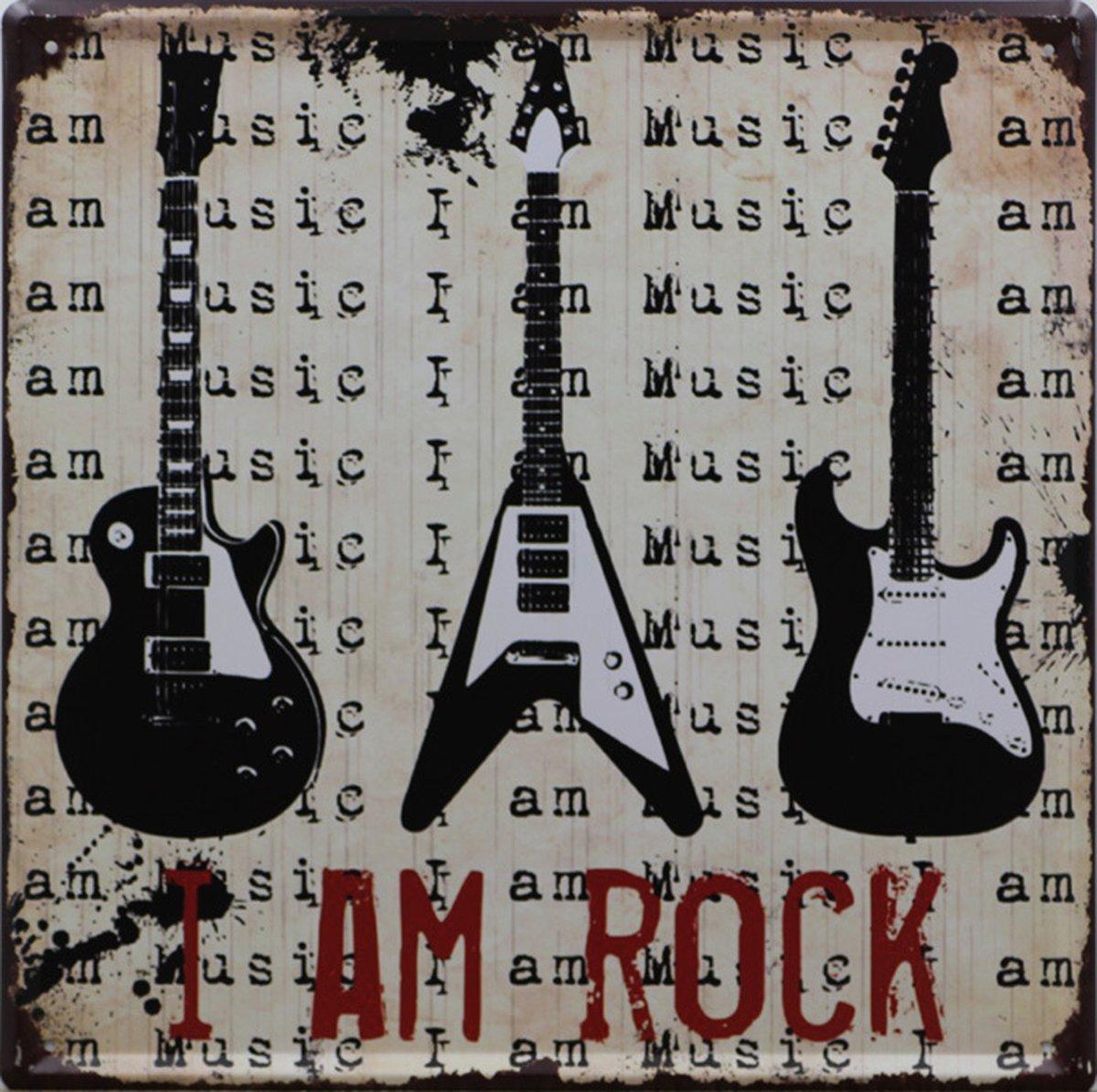 Vintage retrò caffè modello musica poster metal Tin Sign piastra di ferro bar pub hotel Cafe Home Wall Decor I am rock Winterworm