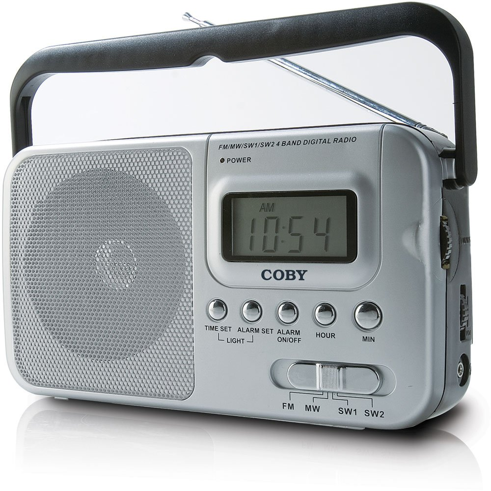 Amazon.com: Coby CX39 World Band AM/FM/Shortwave Radio with Digital  Display, Silver (Discontinued by Manufacturer): Home Audio & Theater