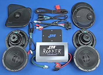 J&M Audio XXRK STAGE 4 Extreme 4 Speaker and 700 Watt Amp Kit for 2015 and Newer Harley-Davidson Road Glide Ultra CVO models - XXRK-700SP4-15RU-CVO