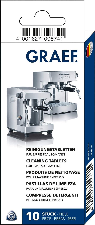 Graef 145614 - Pastillas de limpieza para cafeteras espresso (10 ...