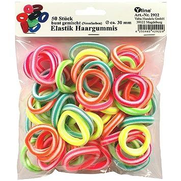 Haargummi Farblich sortiert 100 Stück Zopfgummi Rastagummi