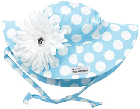 Amazon.com  Flap Happy Girls  UPF 50+ Floppy Hat with Flower  Clothing df95b7b25511