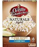 Orville Redenbacher's Naturals Light Classic Butter & Sea Salt Popcorn, Classic Bag, 6 Count (Pack of 6)