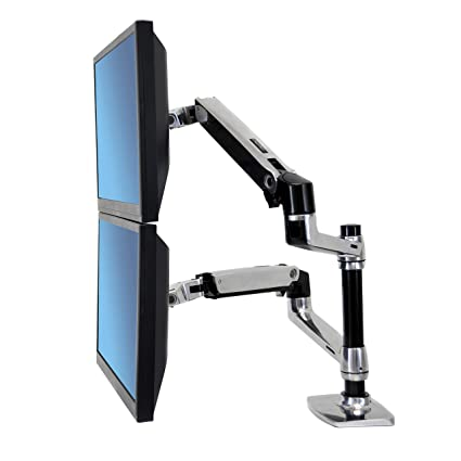 amazon com ergotron lx dual stacking arm 45 248 026 electronics