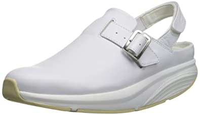 6933902a4317 MBT Imara White Ladies Work Time Service Clog Shoes White  Amazon.co ...