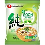 Nongshim Korean Famous Ramen Variety Selection (농심 라면) (Soon Veggie Ramen, 4 Pack)