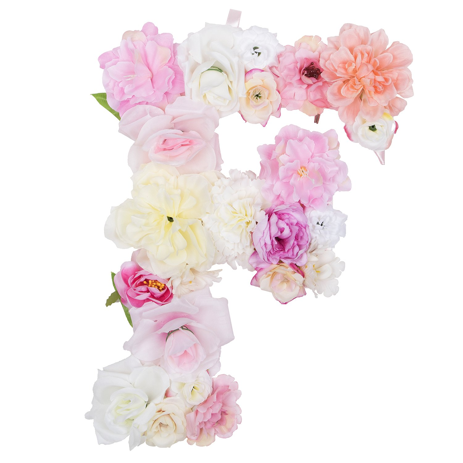 Amazon.com  DARONGFENG Artificial Floral Letter for Room Door Wall  Decoration (F)  Home   Kitchen 386b4ecd9468