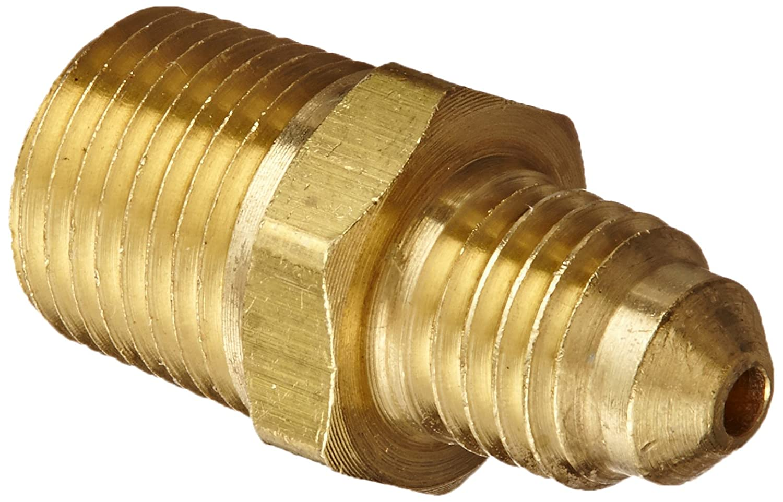 Adapter 1//8 NPT Male x 1//8 SAE Male Eaton Weatherhead 48X2 Brass CA360 SAE 45 Degree Flare