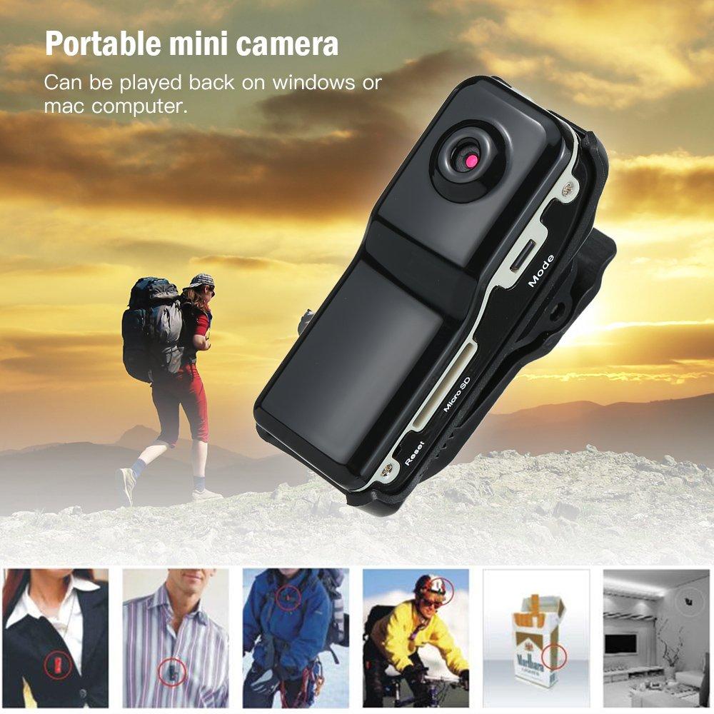 TOPTOO Grabadora de Video Digital port/átil Mini Monitor DV C/ámara Oculta Micro Bolsillo C/ámara de Seguridad Interior hogar y la Oficina Negro