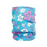 Foulard multifonction sans couture en forme de tube, tour de coup morf écharpe multi-usage multi-scraf Près de 10 produits en 1: Bandeau, bonnet, bandana, cagoule, attache-cheveux femme fille ALSINO, choisir:MF-155 fleur turquoise rose