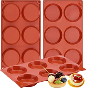 Ocmoiy Silicone Muffin Top Pan Molds, 3