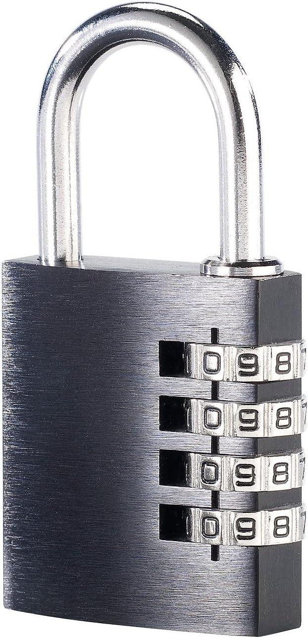 Vorhängeschloss aus Aluminium mit 4-stelligem Zahlencode Zahlenschloss