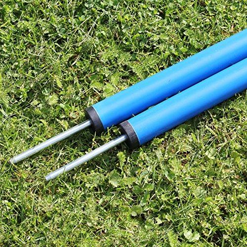Slalomstange 100 cm lang, ø 32 mm, in 3 Farben, für Agility - Hundetraining (blau)