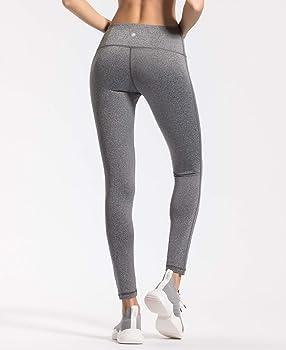 b3c632ec87 Women Power Stretch Leggings Plus Size Medium Waist Yoga Pants Hidden  Pocket Running Tights Size XS Color Grey Melange