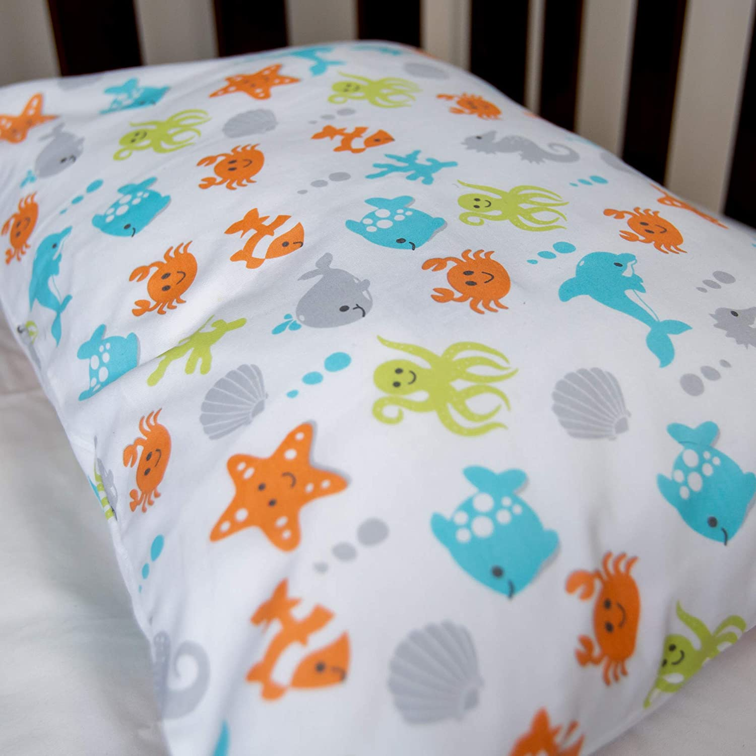 Machine Washable Naturally Hypoallergenic and Soft 100/% Cotton Designed in USA BB MY BEST BUDDY Toddler Kids Pillowcase for Boys and Girls shrinks to fit Butterfly//Butterflies 13 x 18