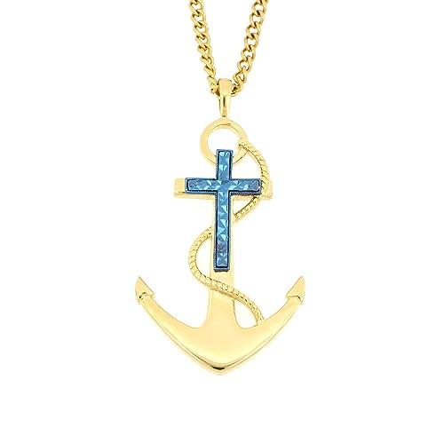 Amazon.com: Arrow Jewelry - Ancla náutica de acero ...