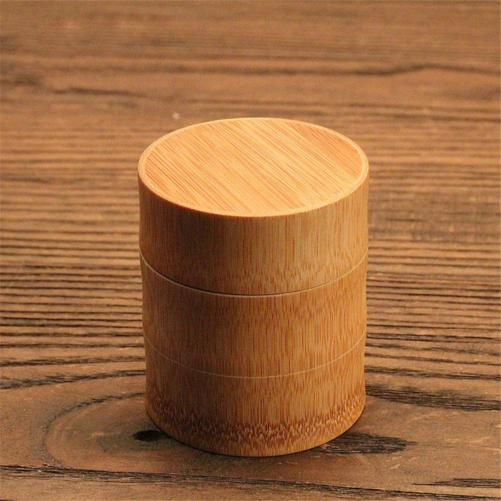 Biback Tea Canister Tea Canister Bamboo Japanese Tea Box Loose Leaf Tea Box Organic Bamboo Container Canister Tea Storage Jar with Lid