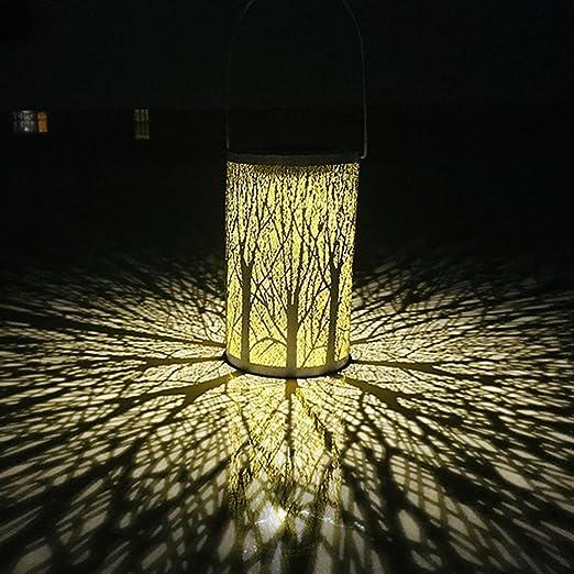 LEDMOMO Linterna solar LED que cuelga las luces solares de la silueta marroqu/í con la iluminaci/ón al aire libre del jard/ín del gancho para el patio Patio 2pcs