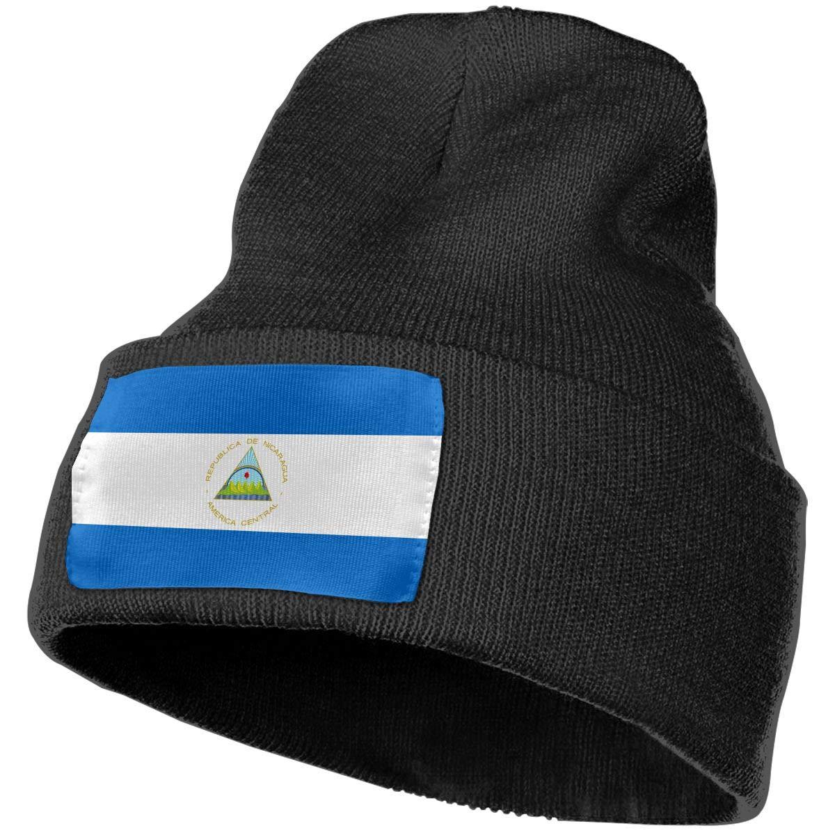 MXMAOM9MX Nicaragua Flag Warm Knitting Hat Mens Womens 100/% Acrylic Skull Cap