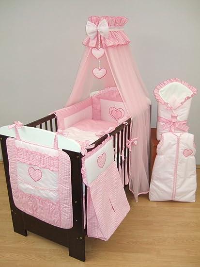 16 piezas Bordado bebé Juego de ropa de cama para cama, cuna ordenado, cortinas