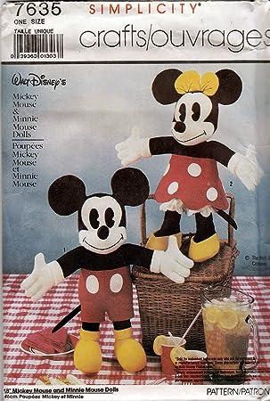 Simplicity 7635 Schnittmuster, Disney Mickey Maus und Minnie Maus 18 ...
