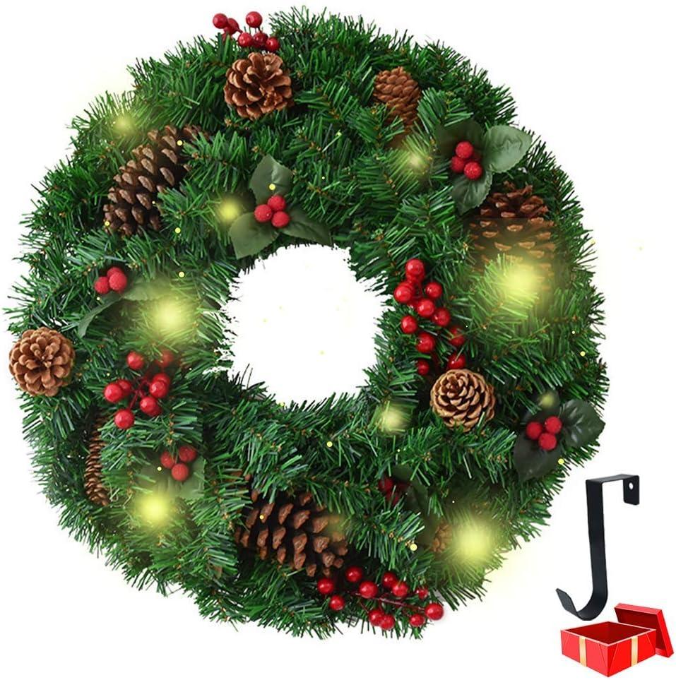 LNDDP Decoraciones guirnaldas navideñas con Luces, escaleras la Puerta Principal Chimeneas Guirnaldas Decoradas Decoración Festiva del árbol Navidad con Luces LED batería 8 Modos: Amazon.es: Deportes y aire libre