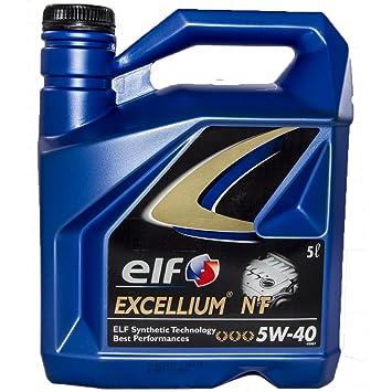 Elf - Excellium 5w-40 nf - Aceite de Motor en garrafa de 5 l: Amazon.es: Coche y moto