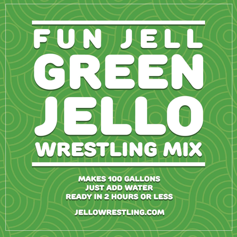 Fun Jell - Bulk Jello for Jello Wrestling, 100 Gallons (Green) by JelloWrestling.com