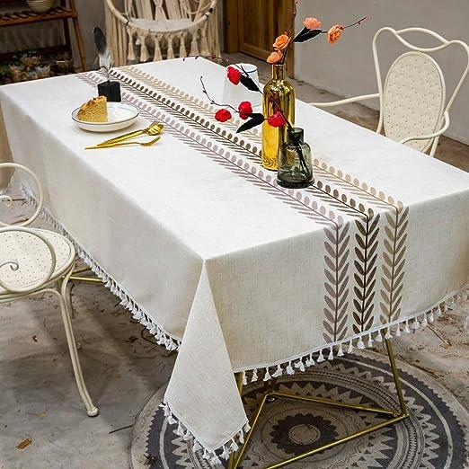 Manteles LEFA Hotel algodón y Lino Lavable, decoración de hogar de Picnic de Tela (Color : White, Size : 1.4x1.8m): Amazon.es: Jardín