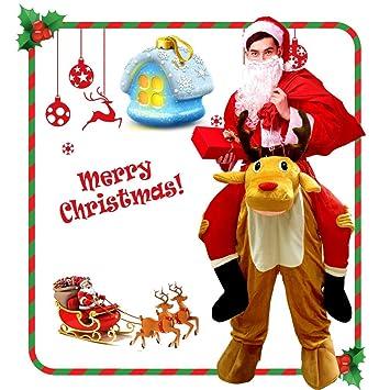 CRSURE Disfraz de Reno de Navidad, fácil de Llevar y Caminar para ...