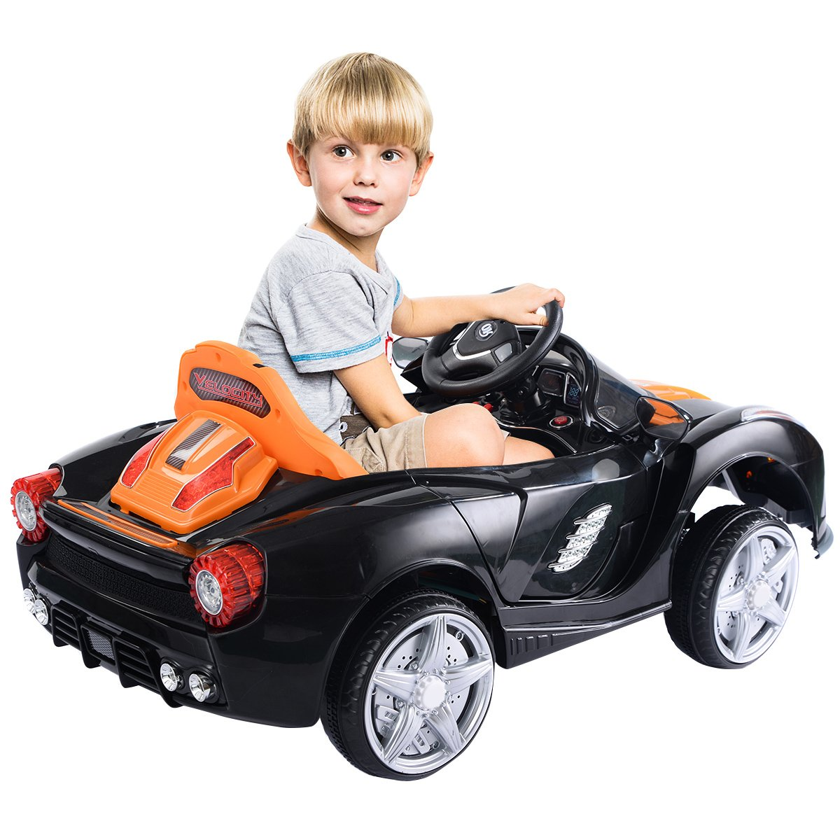 Costzon Kids Ride On Car 12v Battery Powered Vehicle Wiring Diagram 12 Volt Toys Parental Rc Remote Control Manual Modes W Led Lights Horn Music Mp3 Open Doors