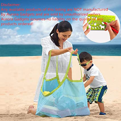 a930a1face52 Aurora Gadgets 11 Extra Large Mesh Toy Tote Bag-Kids Backpacks for Shells  Towels,Beach Ball,Clothes