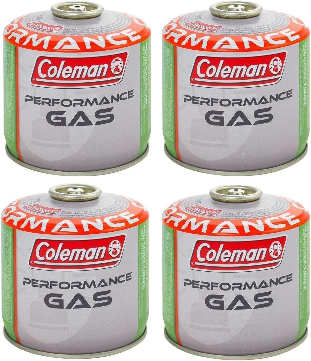 Prime - Bombona de gas Coleman C300 Performance de rosca con 240 g de gas (mezcla butano/propano) para todos los productos Coleman con conexión a ...