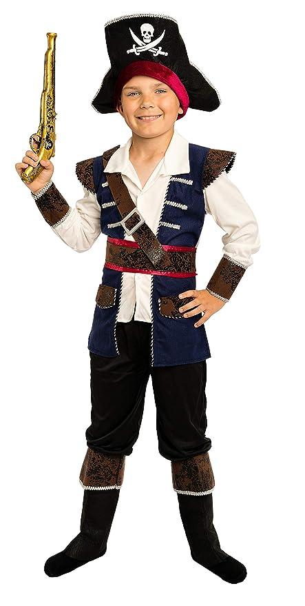 Magicoo Kapitän Piratenkostüm Kinder Jungen Gr. 92 bis 140 Faschingskostüm Pirat Kostüm Kind (92104)