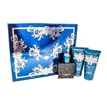 2bf40ab4ac3d Amazon.com   Versace EROS Gift Set for Men 1.7 oz EDT + 1.7 oz Shower Gel +  1.7 oz Aftershave Balm   Beauty